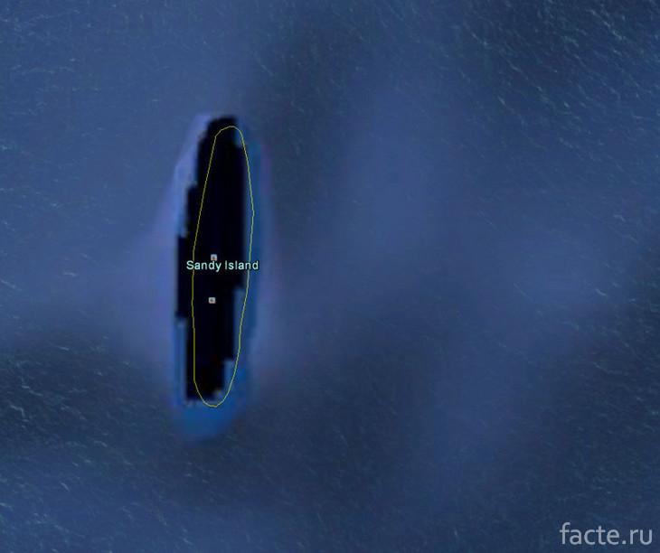 Остров Сэнди-Айленд вблизи