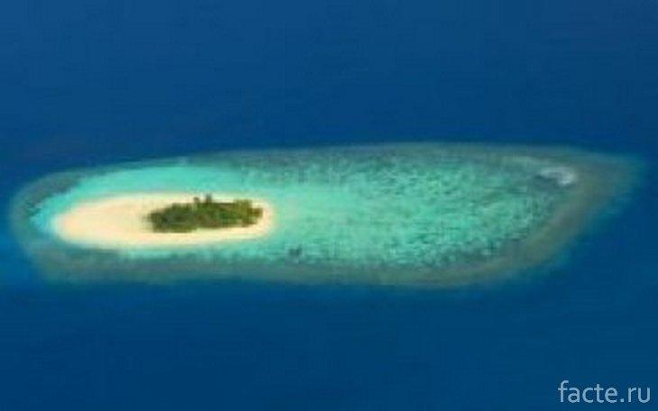 Примерно так бы выглядел остров Сэнди-Айленд