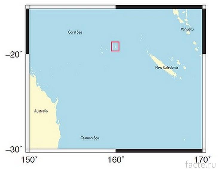 Остров Сэнди-Айленд на карте