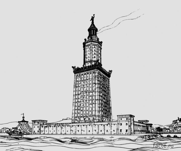 Рисунок Александрийского маяка