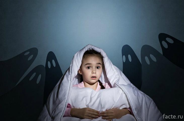 Девочка пугается теней
