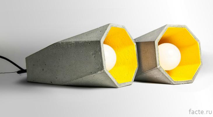 Бетонные светильники