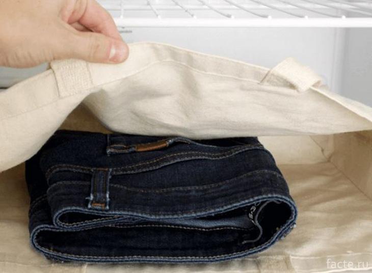 Стираем джинсы
