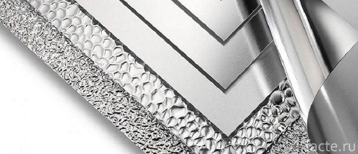 Алюминий с разными текстурами