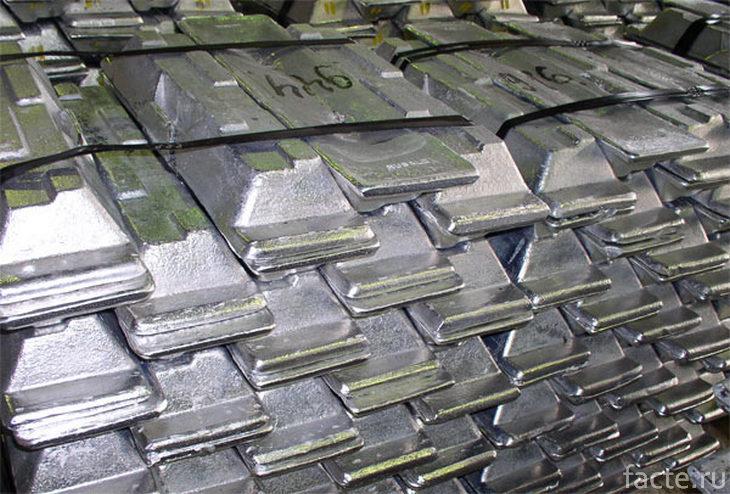 Алюминиевые слитки