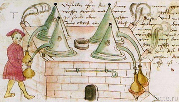 Средневековый алхимик