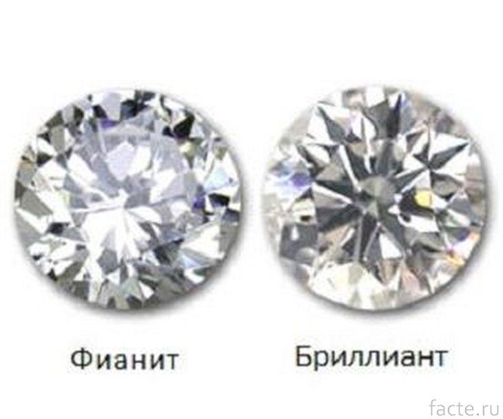 Бриллиант и цирконий (фианит)