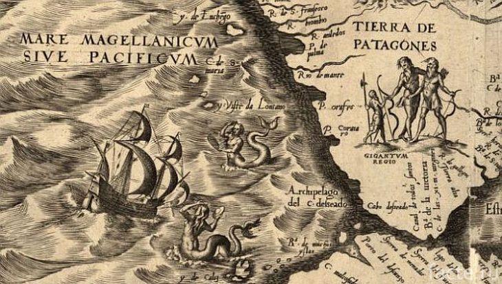 Средневековая карта Южной Америки