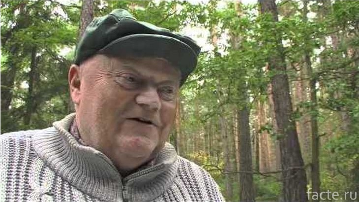 Вацлав Халек в лесу