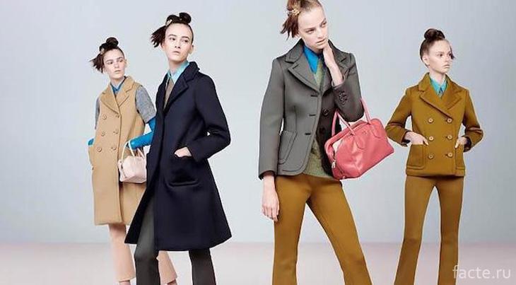 Контрастные цвета в женской одежде