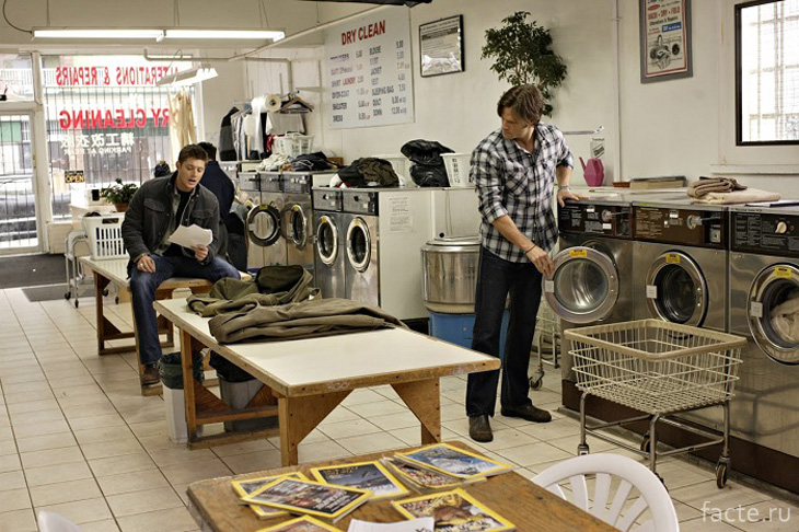 Американцы любят стирать вещи в прачечных
