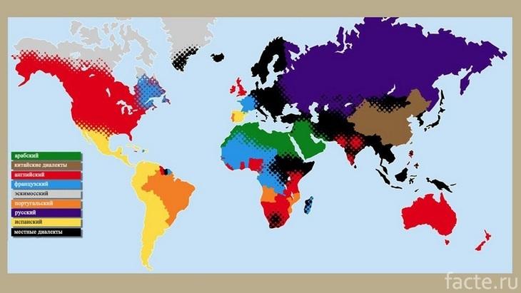 Карта распространения языков