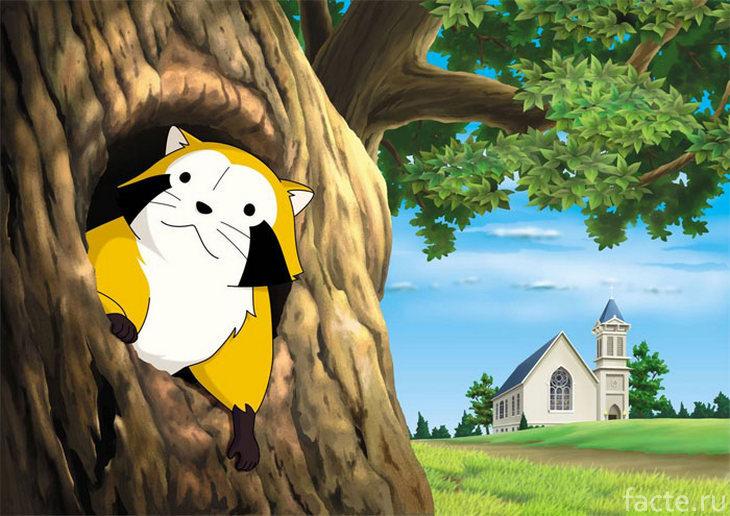 Кадр из аниме «Araiguma Rasukaru»