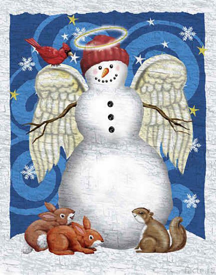 Снеговик-ангел