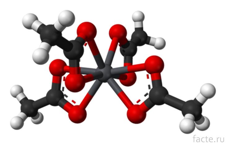 Ацетат свинца. Молекула