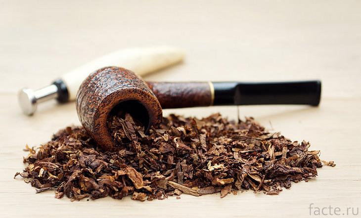 Трубка с табаком