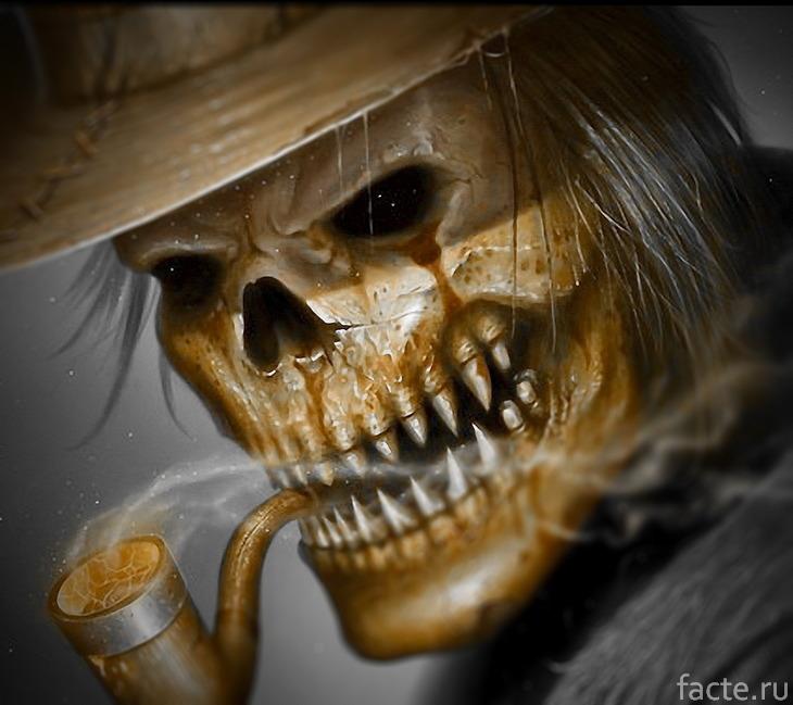 Курящий скелет