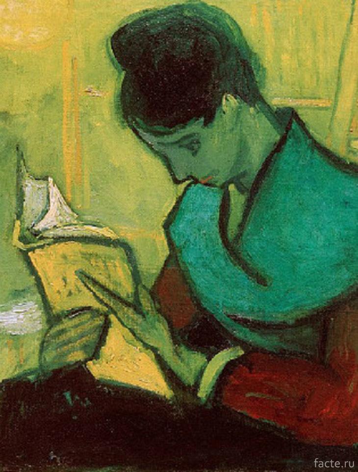 Девушка, читающая книгу. Автор: Ван Гог