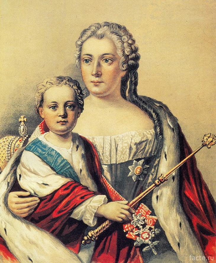 Император Иоанн с матерью