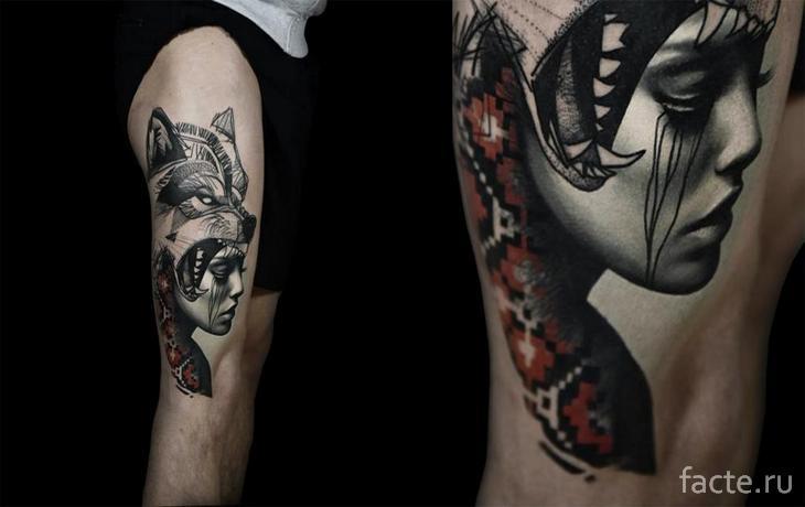 Татуировка - девушка