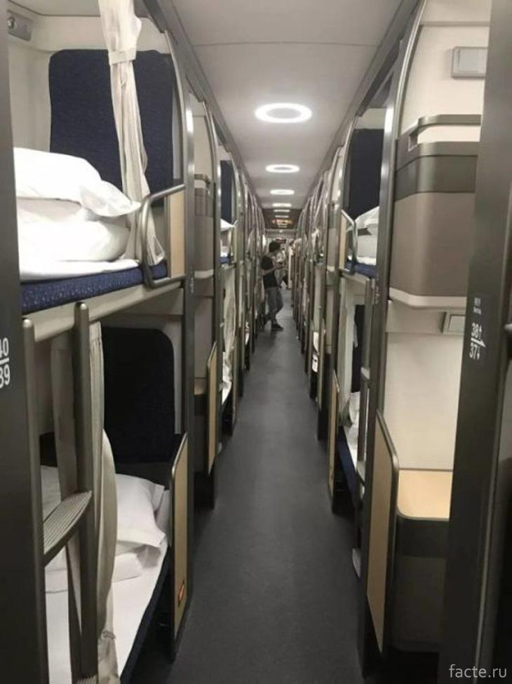 Внутри вагона