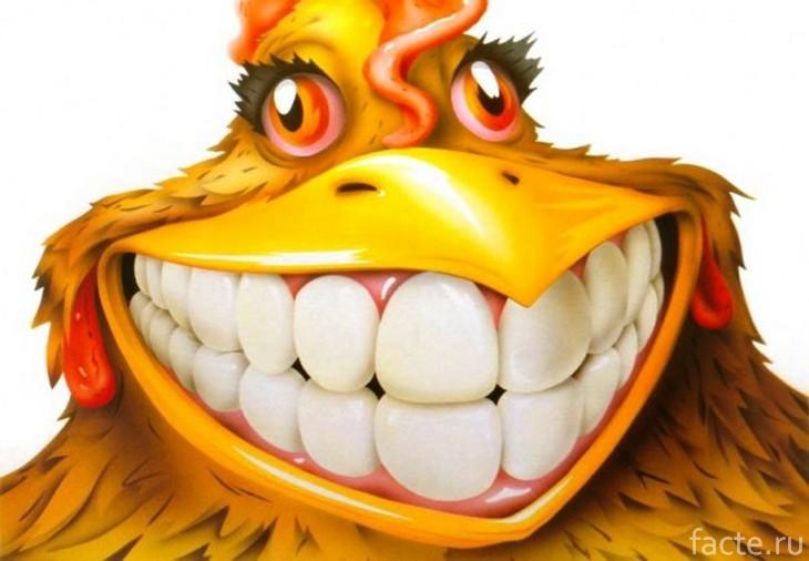 Курица с зубами