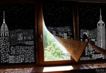 Черные узоры на шторах