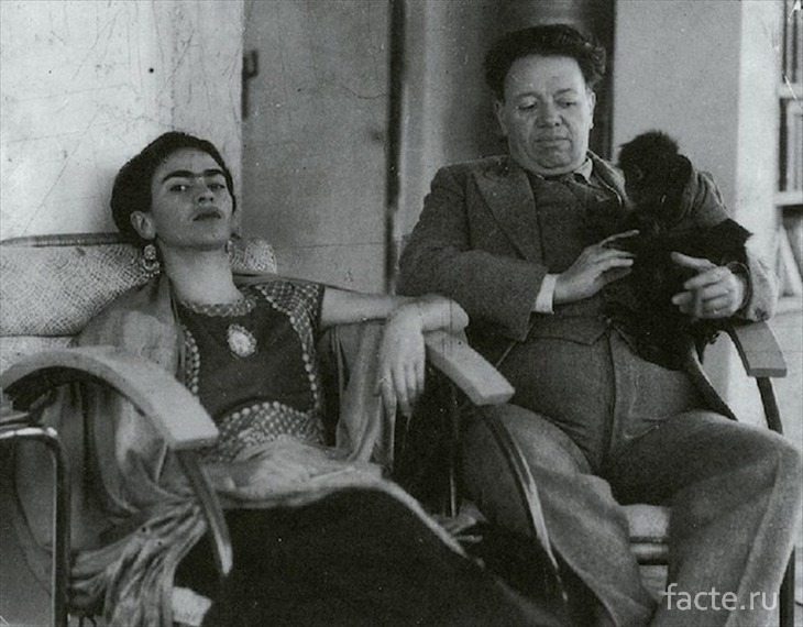 Кало с супругом