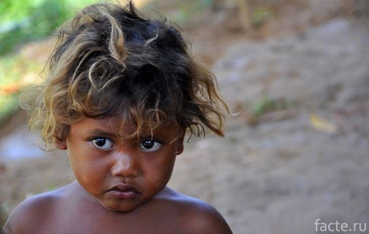 Ребенок из племени джахаев