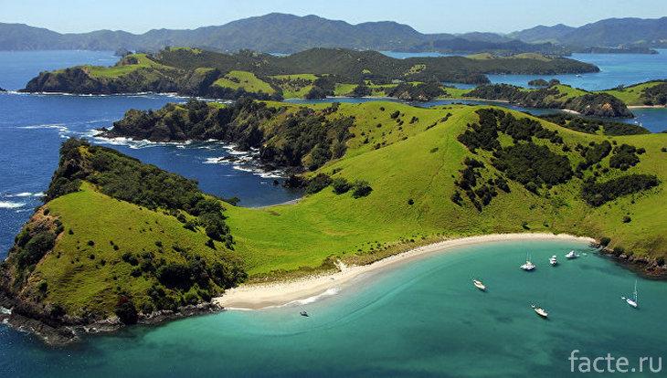 Новая Зеландия. Вид сверху