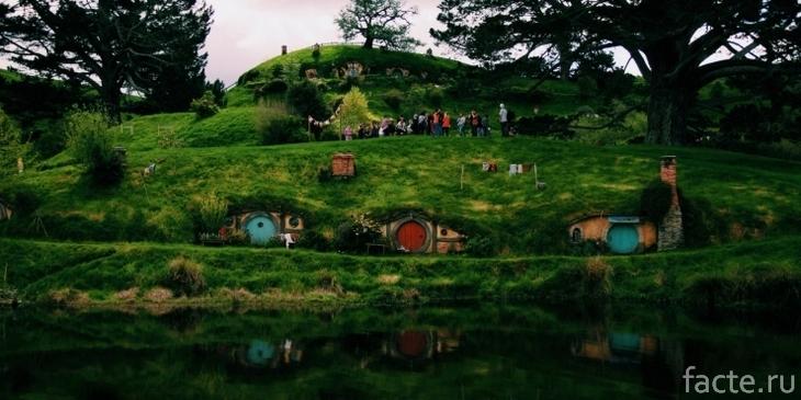 Новая Зеландия. Домики хоббитов