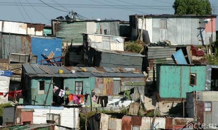 Трущоба в Южной Африке