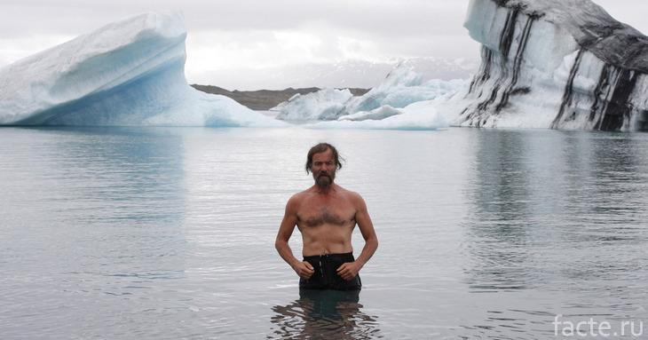 Вим Хоф в ледяной воде