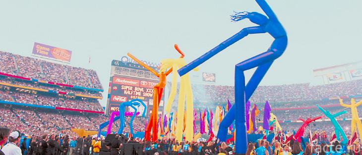 «Воздушные танцоры» на стадионе