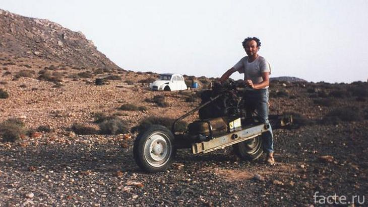 Эмиль Лере и его мотоцикл