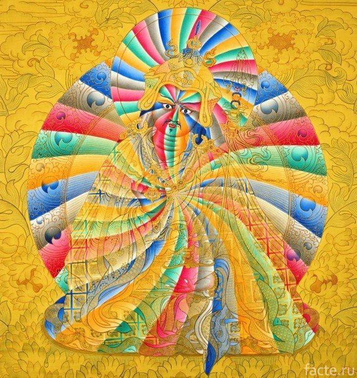 Буддийский рисунок