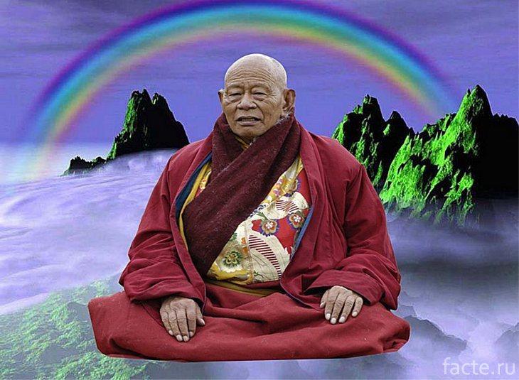 Буддийский монах и радуга