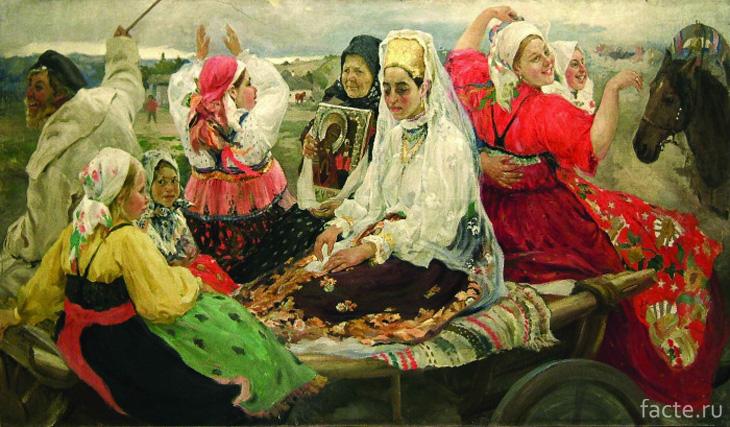 Художник А. Бучкури, «Свадебный поезд»