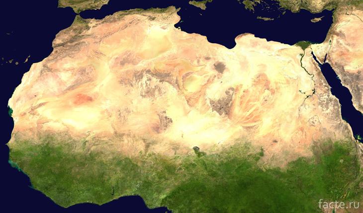 компьютерная модель Сахары