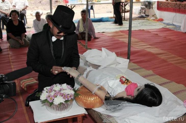 Посмертная свадьба в Таиланде