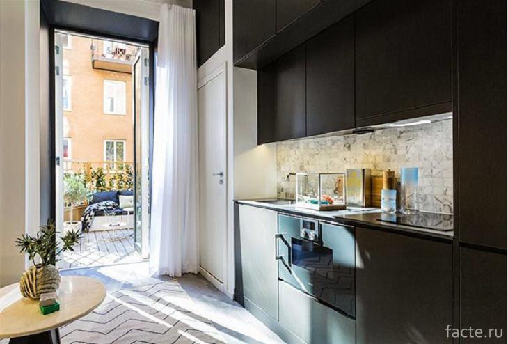 Кухня в черном цвете — неординарное решение дизайнеров