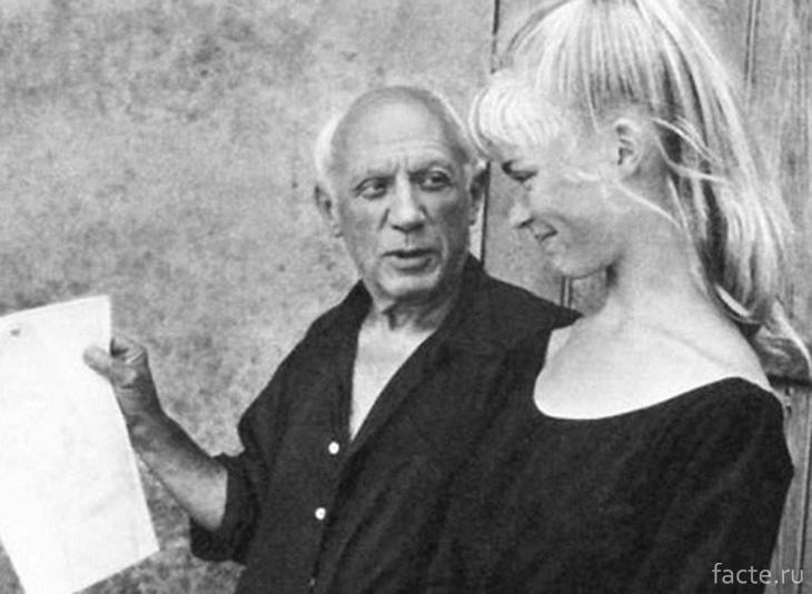 Пикассо и Сильветт Дэвид