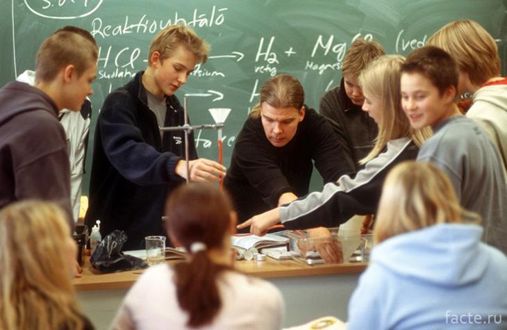 На уроке в финской школе