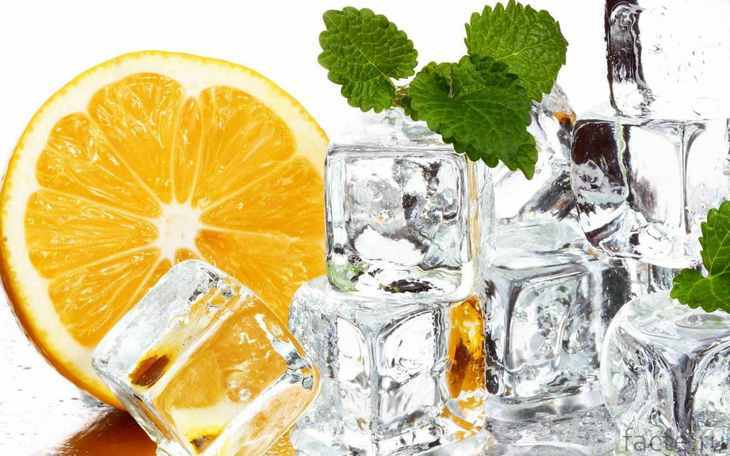Лед и апельсин
