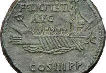 Древняя свинцовая монета