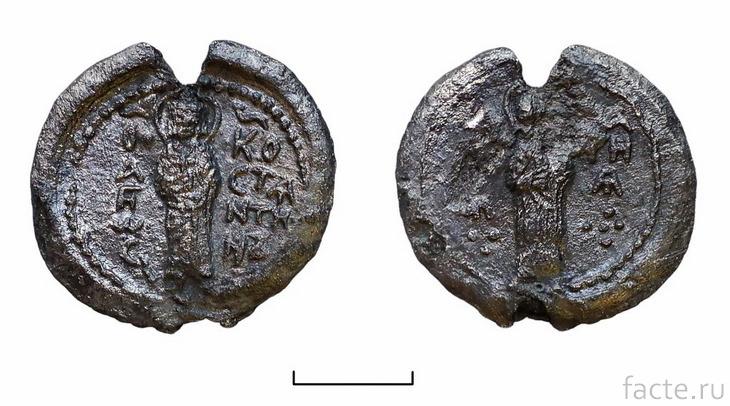 Древние свинцовые монеты