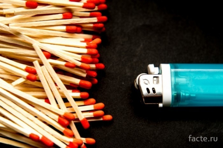 спички и зажигалка