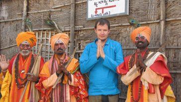 Белый турист в Индии