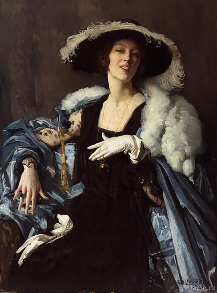 Женщина в белой перчатке