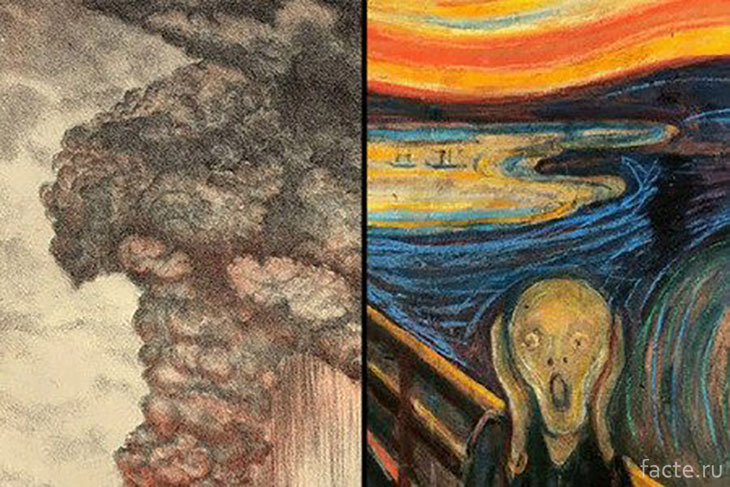 Вулкан Кракатау и картина Мунка